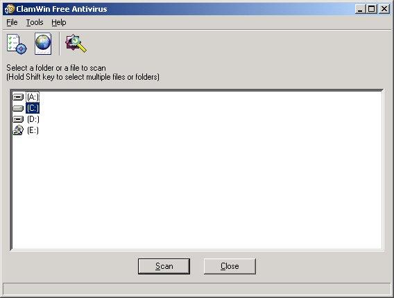 CLAMWIN 0.93.1 ANTIVIRUS Main1