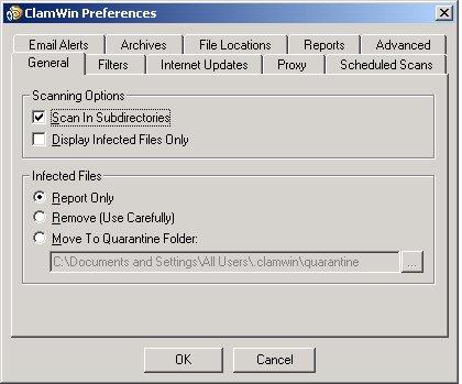 pantalla de configuracion